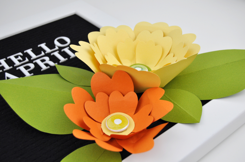 Letterboard Paper Flowers by Jen Gallacher with A Flair for Badges Photo 4