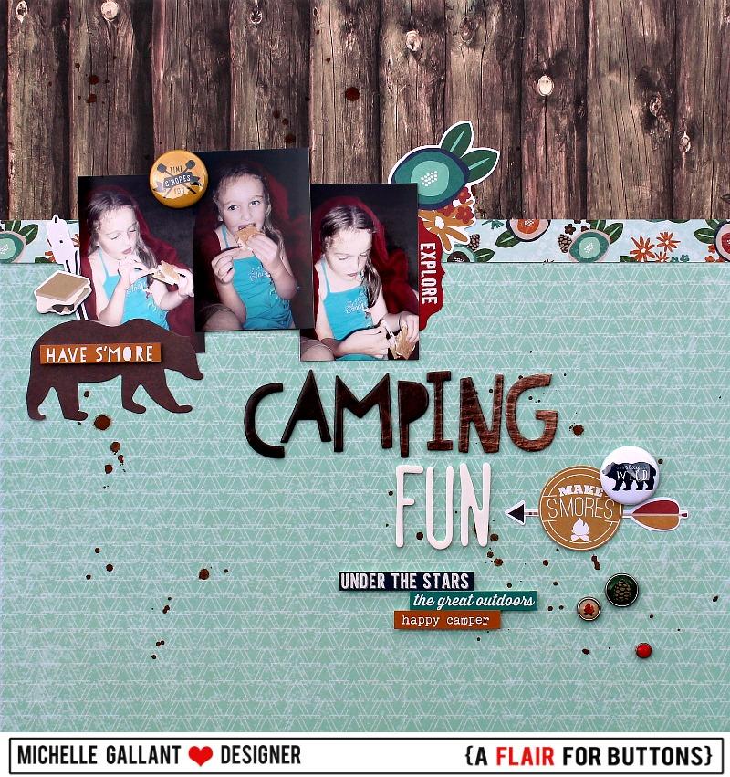 Camping fun tag