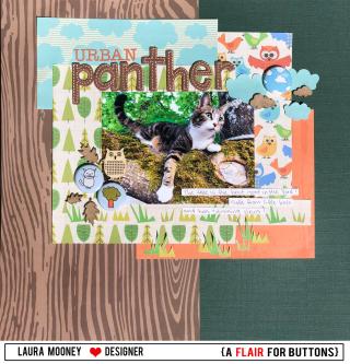 Urban panther framed