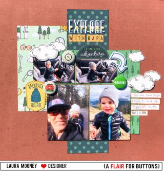 Explore with bapa framed